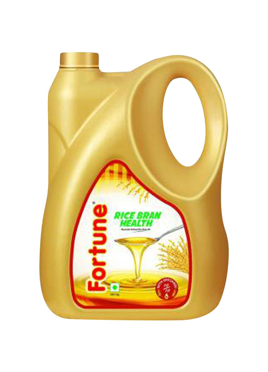 Fortune Rice Bran Health Oil - 5 ltr. + 1 ltr. Pouch Free