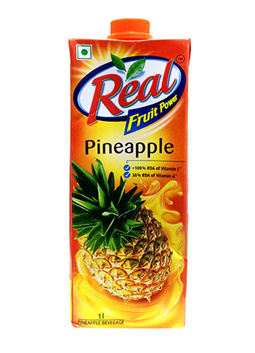 Real Pineapple Fruit Juice - 1Ltr