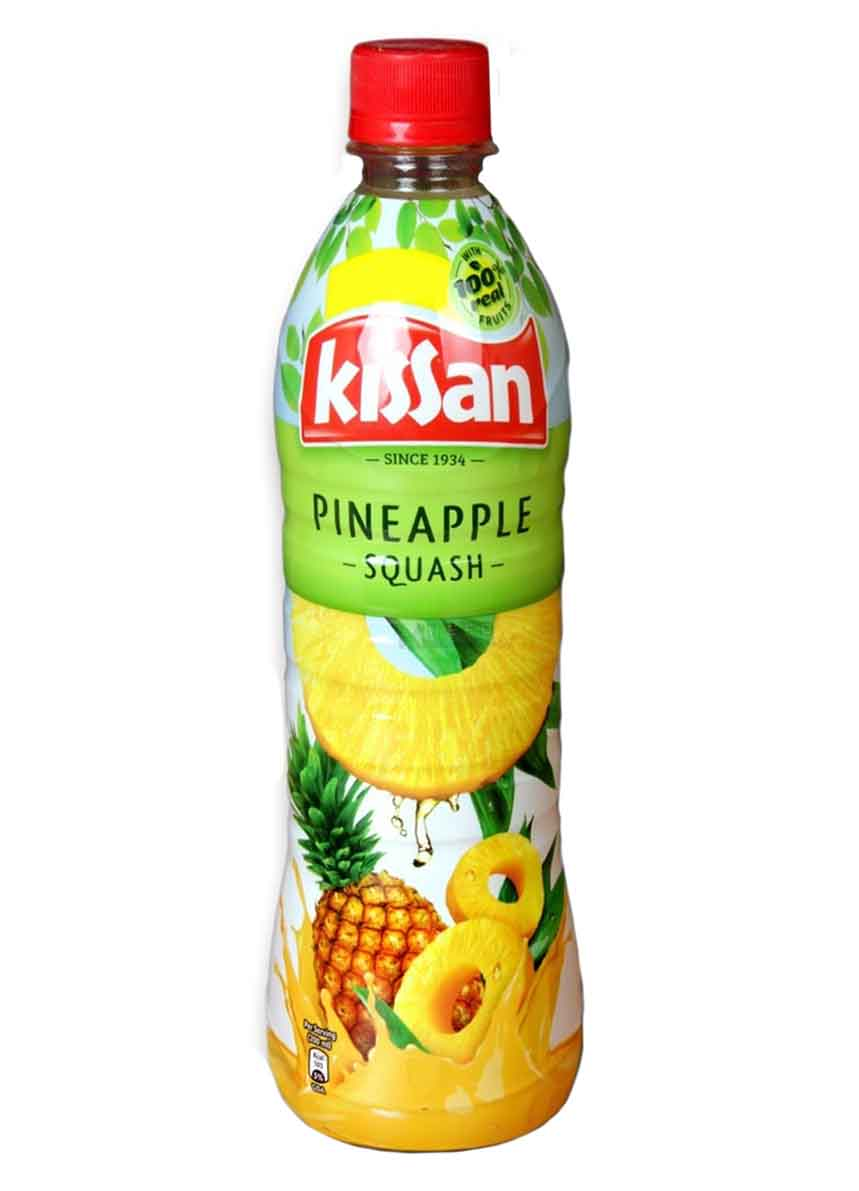 Kissan Pineapple Squash Bottle -750ml