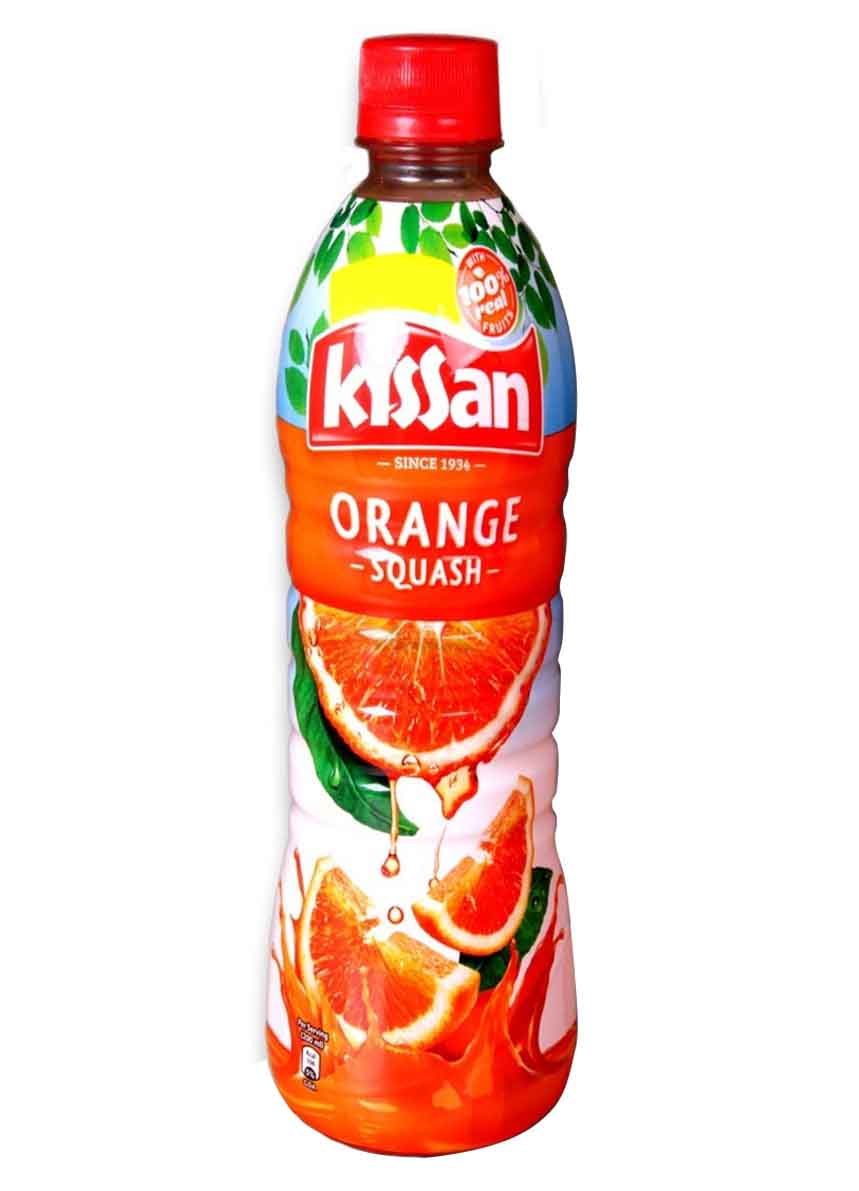 Kissan Orange Squash Bottle - 750ml