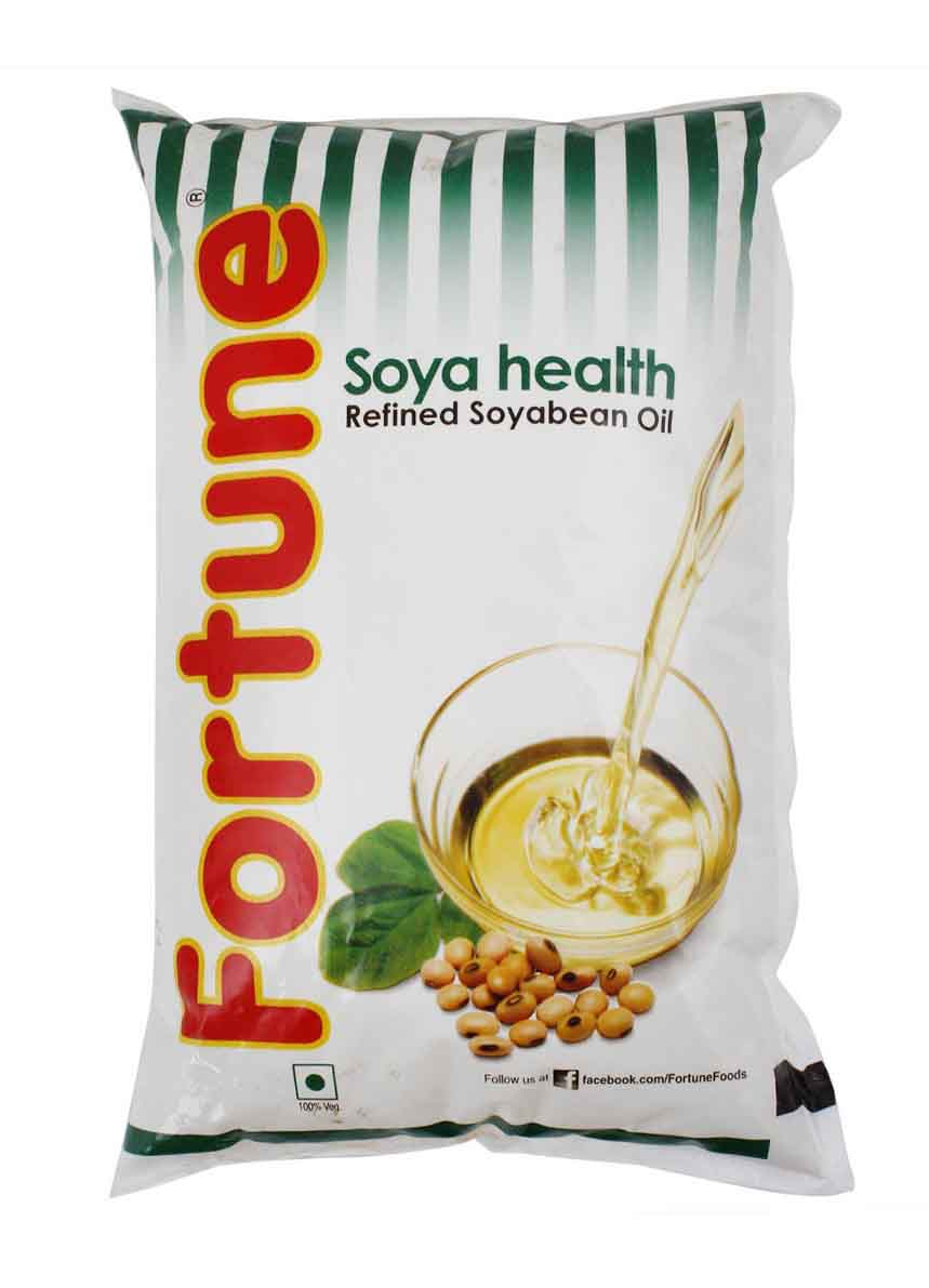 Fortune Soya Health Oil - 1 ltr. pouch