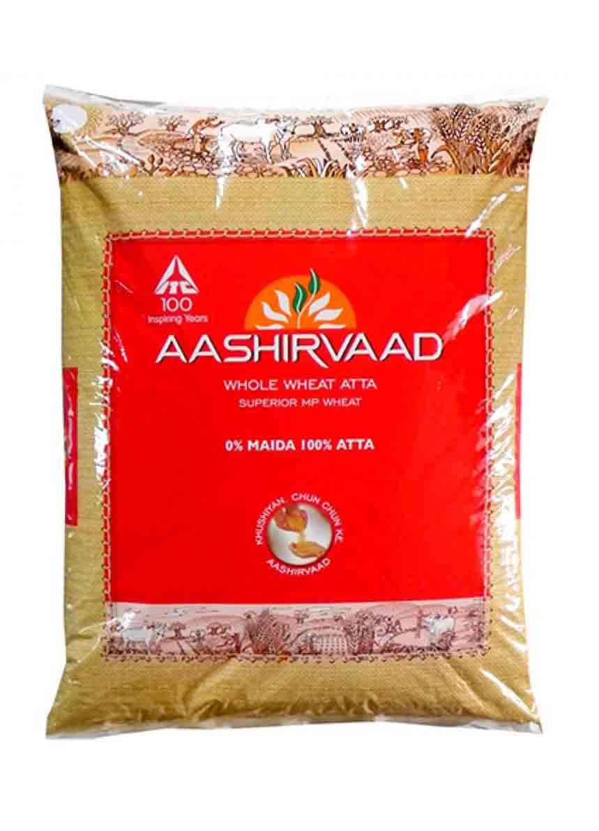 Aashirvaad Whole Wheat Atta - 5kg