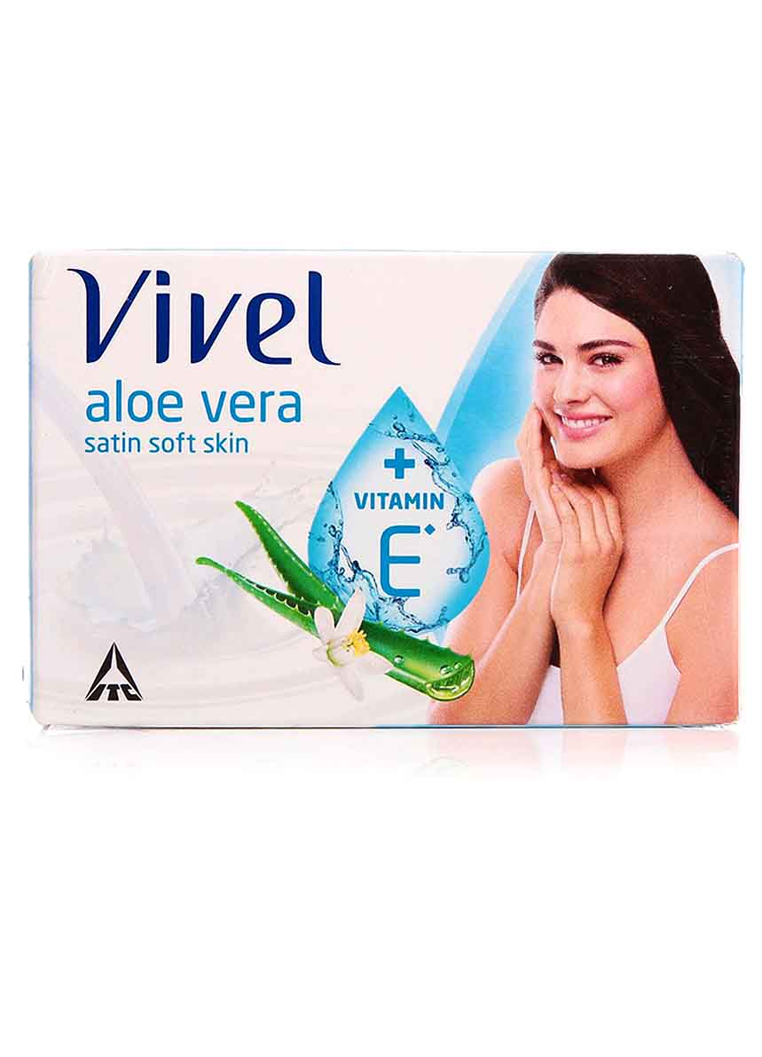 Vivel Aloe Vera Satin Soft Skin Vitamin E Soap - 100g (Pack of 4+1)