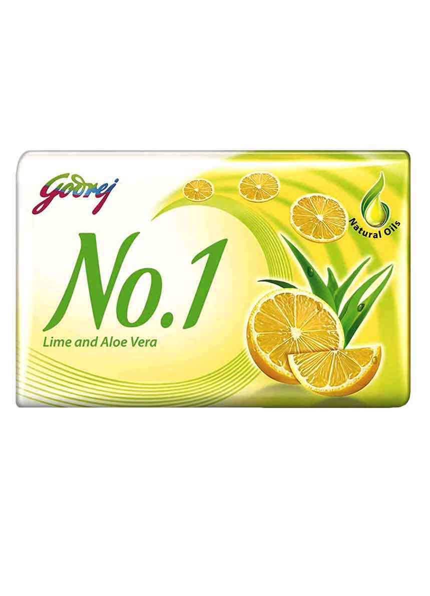Godrej No.1 Lime and Aloe Vera Soap, 100gm (Pack of 4)