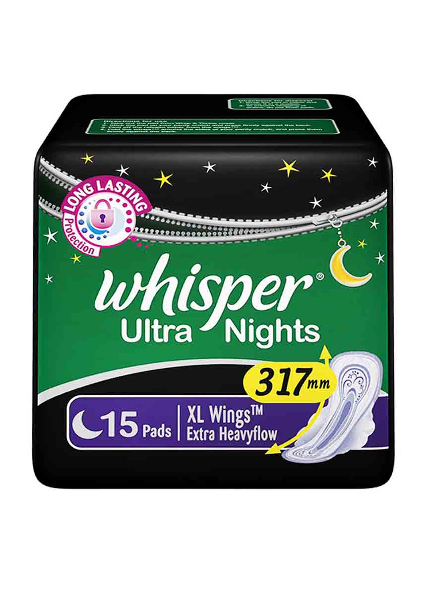Whisper Dry-Max All Night Ultra Dry Xl With Wings 15 Pads