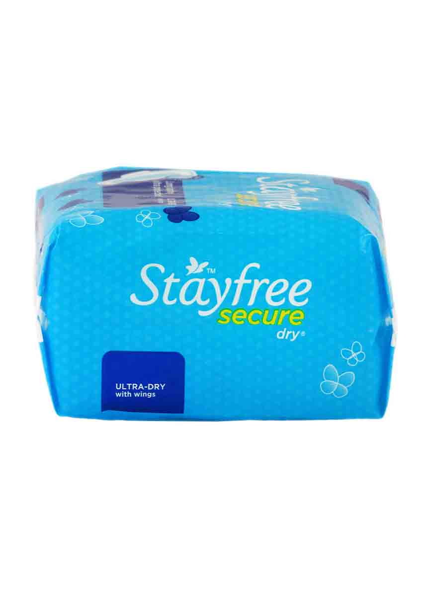 Stayfree Secure Dry Ultra-Thin with Wings - (6Count)