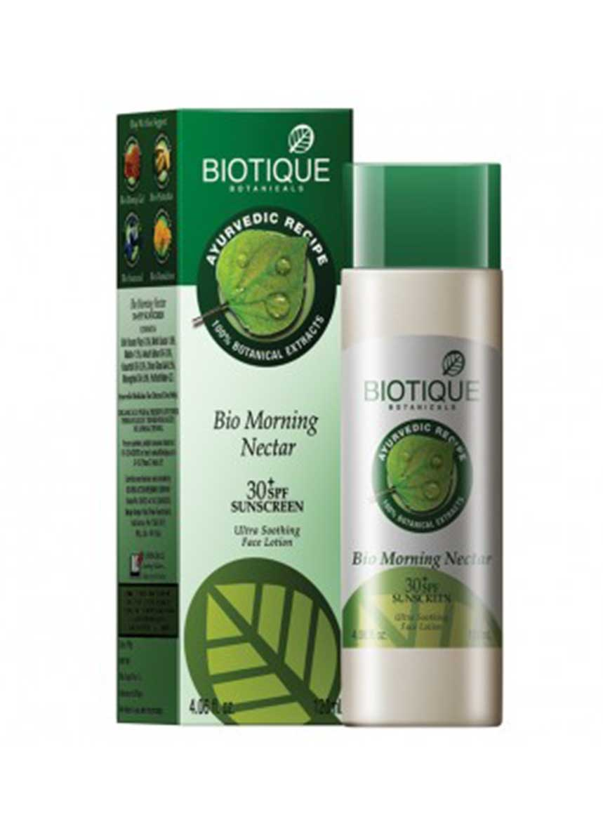 Biotique Bio Morning Nectar 30+SPF Ultra soothing face lotion 30+ SPF Sunscreen, 120M