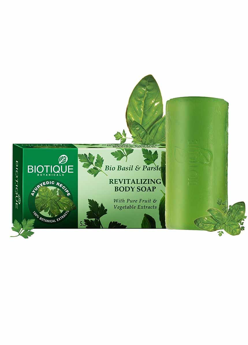 Biotique Bio Basil And Parsley Revitalizing Body Soap,150g
