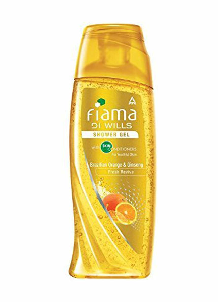Fiama Di Wills Brazilian Orange and Ginseng Fresh Revive Shower Gel -250ml + Loofah Free